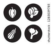 4 vector icon set   carambola ... | Shutterstock .eps vector #1283039785
