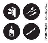 4 vector icon set   medical... | Shutterstock .eps vector #1283039962