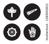 4 vector icon set   bael tree ... | Shutterstock .eps vector #1283042812