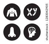 4 vector icon set   men chest ... | Shutterstock .eps vector #1283042905