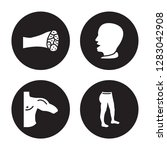 4 vector icon set   muscle... | Shutterstock .eps vector #1283042908