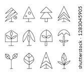 set of vector graphic hand... | Shutterstock .eps vector #1283045905