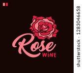 rose wine lettering color... | Shutterstock .eps vector #1283046658