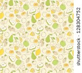 fruit doodles seamless vector | Shutterstock .eps vector #128304752