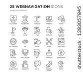 set of 25 webnavigation linear... | Shutterstock .eps vector #1283057845