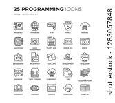 set of 25 programming linear... | Shutterstock .eps vector #1283057848