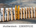 colorful clothespin against of... | Shutterstock . vector #1283059132