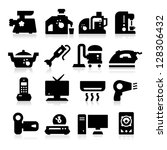 electronic devices icons | Shutterstock .eps vector #128306432
