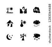 vector illustration of 9 icons. ...   Shutterstock .eps vector #1283064688