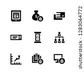 vector illustration of 9 icons. ... | Shutterstock .eps vector #1283064772