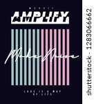 amplify graphic print | Shutterstock .eps vector #1283066662