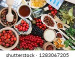 medicinal tablets and pills and ... | Shutterstock . vector #1283067205