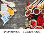 medicinal tablets and pills and ... | Shutterstock . vector #1283067208