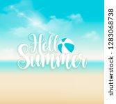 hello summer background vector...   Shutterstock .eps vector #1283068738