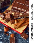 different types of chocolate ... | Shutterstock . vector #1283070982