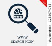 www search icon. editable www...   Shutterstock .eps vector #1283074765
