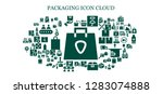 packaging icon set. 93 filled... | Shutterstock .eps vector #1283074888