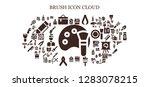 brush icon set. 93 filled... | Shutterstock .eps vector #1283078215