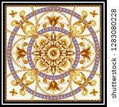 design scarf with golden... | Shutterstock .eps vector #1283080228