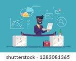 flexible work time schedule... | Shutterstock .eps vector #1283081365