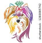 colorful decorative portrait of ... | Shutterstock .eps vector #1283085742