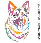 colorful decorative portrait of ... | Shutterstock .eps vector #1283085745