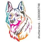 colorful decorative portrait of ... | Shutterstock .eps vector #1283085748
