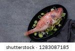 raw fresh ocean perch  ready... | Shutterstock . vector #1283087185