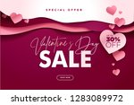 valentines day. vector... | Shutterstock .eps vector #1283089972