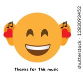 the music emoji modern vector...
