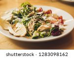 delicious salad with grilled...   Shutterstock . vector #1283098162