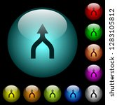 merge arrows up icons in color... | Shutterstock .eps vector #1283105812