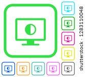 adjust screen contrast vivid... | Shutterstock .eps vector #1283110048