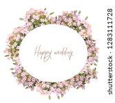 gentle watercolor wedding wreath   Shutterstock . vector #1283111728