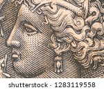 arethusa nymph on old greece... | Shutterstock . vector #1283119558
