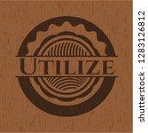 utilize wood emblem. vintage.
