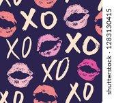 xoxo brush lettering signs... | Shutterstock .eps vector #1283130415