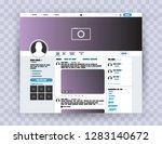 browser interface twitter ... | Shutterstock .eps vector #1283140672