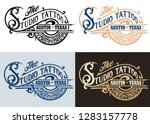 tattoo logo.vintage style in... | Shutterstock .eps vector #1283157778