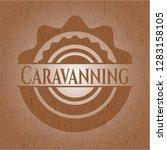 caravanning wooden emblem   Shutterstock .eps vector #1283158105