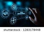 agile software development...   Shutterstock . vector #1283178448