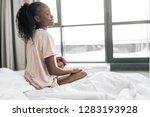 emotional unhappy girl is...   Shutterstock . vector #1283193928
