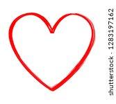 heart vector isolated on white... | Shutterstock .eps vector #1283197162