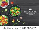 healthy food with ingredients... | Shutterstock .eps vector #1283206402