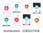 abstract vector business... | Shutterstock .eps vector #1283217418
