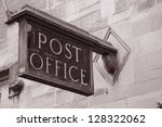 Old Post Office Sign In Black...