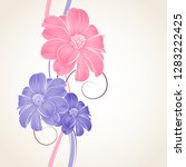 floral pattern  with abstract...   Shutterstock .eps vector #1283222425