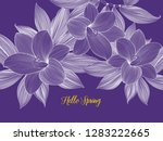 pattern with abstract tropical...   Shutterstock .eps vector #1283222665