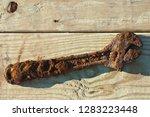 neglected abandoned rusty...   Shutterstock . vector #1283223448