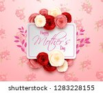 happy mother's day on flowers... | Shutterstock .eps vector #1283228155